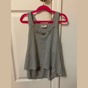 Abercrombie flowy tank top with rhinestones